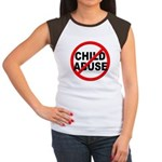 Anti / No Child Abuse Women's Cap Sleeve T-Shirt