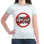 Anti / No Child Abuse Jr. Ringer T-Shirt