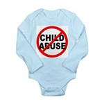Anti / No Child Abuse Long Sleeve Infant Bodysuit