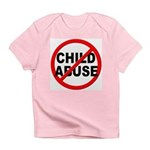 Anti / No Child Abuse Infant T-Shirt