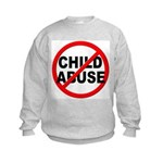 Anti / No Child Abuse Kids Sweatshirt