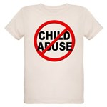Anti / No Child Abuse Organic Kids T-Shirt