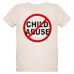 Anti / No Child Abuse Organic Kids T-Shirt