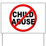 Anti / No Child Abuse Yard Sign