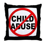 Anti / No Child Abuse Throw Pillow