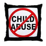 Anti / No Child Abuse Throw Pillow