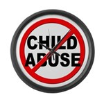 Anti / No Child Abuse Large Wall Clock