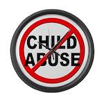 Anti / No Child Abuse Large Wall Clock
