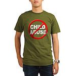 Anti / No Child Abuse Organic Men's T-Shirt (dark)