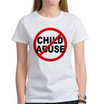 Anti / No Child Abuse Women's T-Shirt