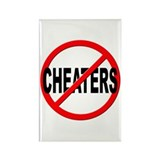 Anti / No Cheaters Rectangle Magnet
