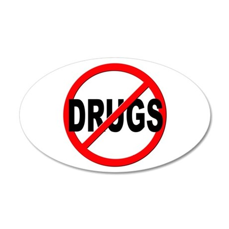 Anti / No Drugs 20x12 Oval Wall Decal