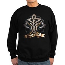 viking knot tribal celtic sword axe Sweatshirt