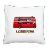 London Red Bus Pillow