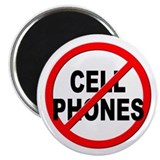 "Anti / No Cell Phones 2.25"" Magnet (10 pack)"