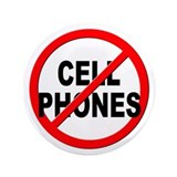 "Anti / No Cell Phones 3.5"" Button (100 pack)"