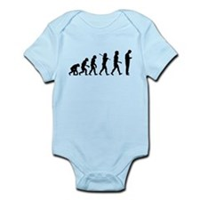 Evolution of Man Texting Infant Bodysuit