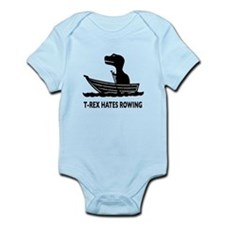 T-Rex Hates Rowing Infant Bodysuit