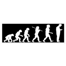 Evolution of Man Texting Bumper Sticker