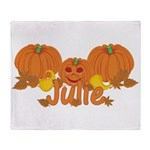 Halloween Pumpkin Julie Throw Blanket
