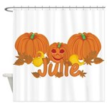 Halloween Pumpkin Julie Shower Curtain