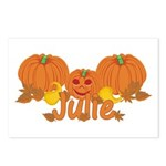 Halloween Pumpkin Julie Postcards (Package of 8)