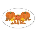 Halloween Pumpkin Julie Sticker (Oval)