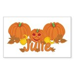 Halloween Pumpkin Julie Sticker (Rectangle)