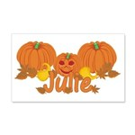 Halloween Pumpkin Julie 20x12 Wall Decal