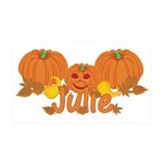 Halloween Pumpkin Julie 35x21 Wall Decal