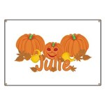 Halloween Pumpkin Julie Banner