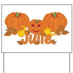 Halloween Pumpkin Julie Yard Sign