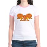 Halloween Pumpkin Kara Jr. Ringer T-Shirt