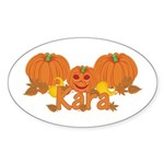 Halloween Pumpkin Kara Sticker (Oval)