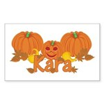 Halloween Pumpkin Kara Sticker (Rectangle)