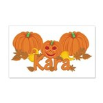 Halloween Pumpkin Kara 20x12 Wall Decal