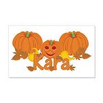 Halloween Pumpkin Kara 20x12 Wall Decal