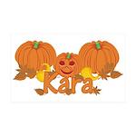 Halloween Pumpkin Kara 35x21 Wall Decal