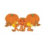 Halloween Pumpkin Kara 35x21 Wall Decal