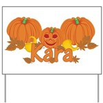 Halloween Pumpkin Kara Yard Sign