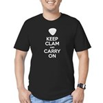 Keep Clam and Carry On Men's Fitted T-Shirt (dark)