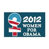 Women Obama 2012 Wall Sticker