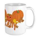 Halloween Pumpkin Kelly Large Mug
