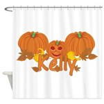 Halloween Pumpkin Kelly Shower Curtain