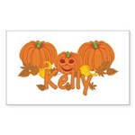 Halloween Pumpkin Kelly Sticker (Rectangle)