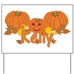 Halloween Pumpkin Kelly Yard Sign