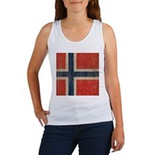 Vintage Norway Flag Women's Tank Top