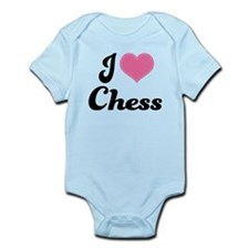 I Love Chess Infant Bodysuit