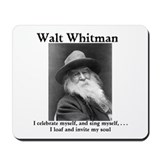Walt Whitman celebrates himself! Mousepad