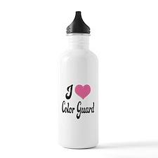 I Love Color Guard Water Bottle